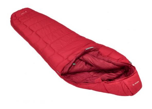 VAUDE SIOUX 400 S SYN DARK INDIAN RED LEFT SLEEPING BAG